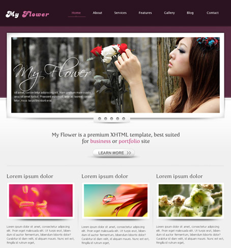 My Flower wordpress theme